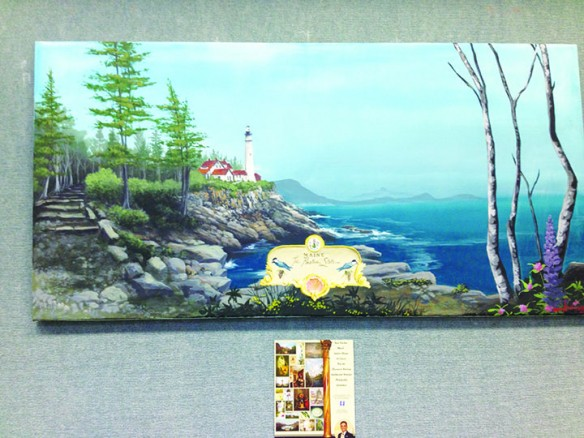 Artwork Of Arden Mays Currently On Display At Bruton Memorial Library