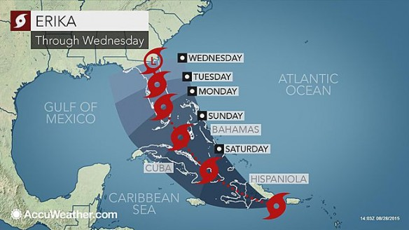 Florida Readies for Tropical Storm Erika