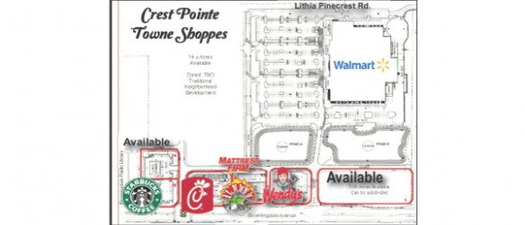 Bloomingdale Big Box Plaza List Of Outparcels Includes Chick-fil-A, Starbucks And More