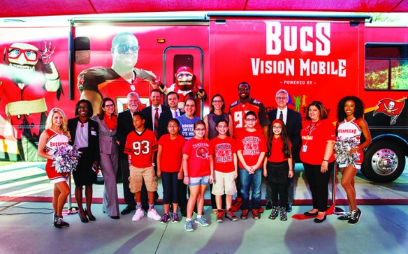 Buccaneers' Glazer Family Foundation Unveils New Mobile Eye Clinic For Local Students