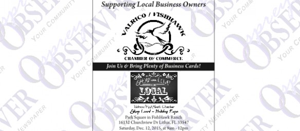 Valrico/FishHawk Chamber Welcomes Families To First Shop Local-Holiday Expo