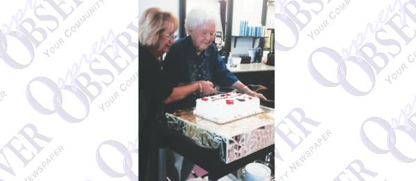 Longtime Resident Celebrates 100th Birthday At Weekly Hair Appt. At LOFT Hair Lounge