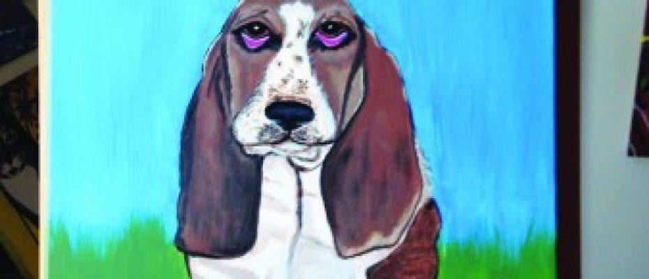 Hillsborough County Court Bailiff Lynn Bliss Creates Acrylic On Canvas Art