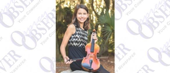 Fifth Grade FishHawk Ranch Resident Plays Violin Under Conductor Itzhak Perlman