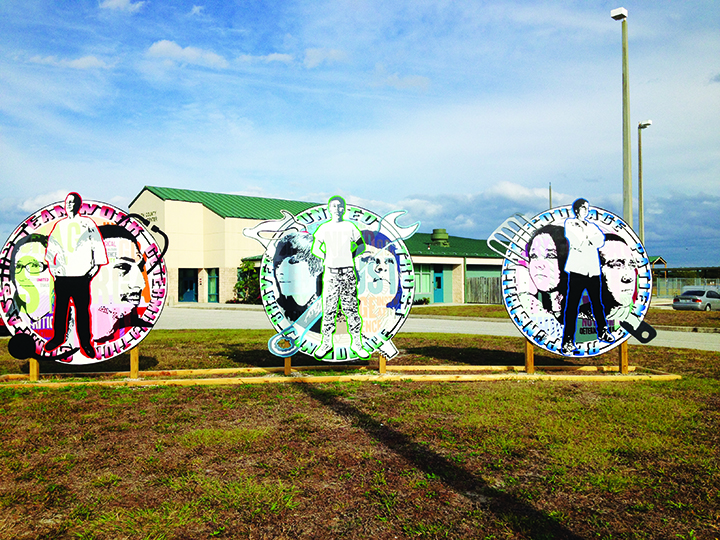Artist Collaborates With Students At South County Career Center To Create Murals