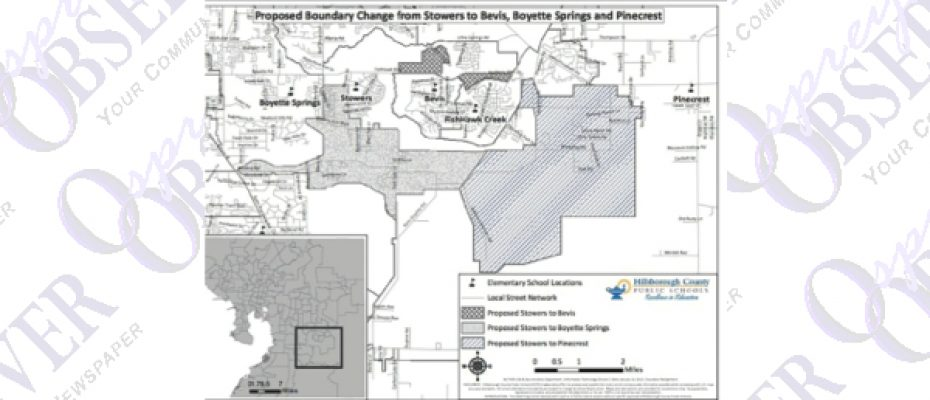District Proposes Attendance Boundary Changes For Stowers, Bevis, Boyette Springs, Pinecrest Elementary