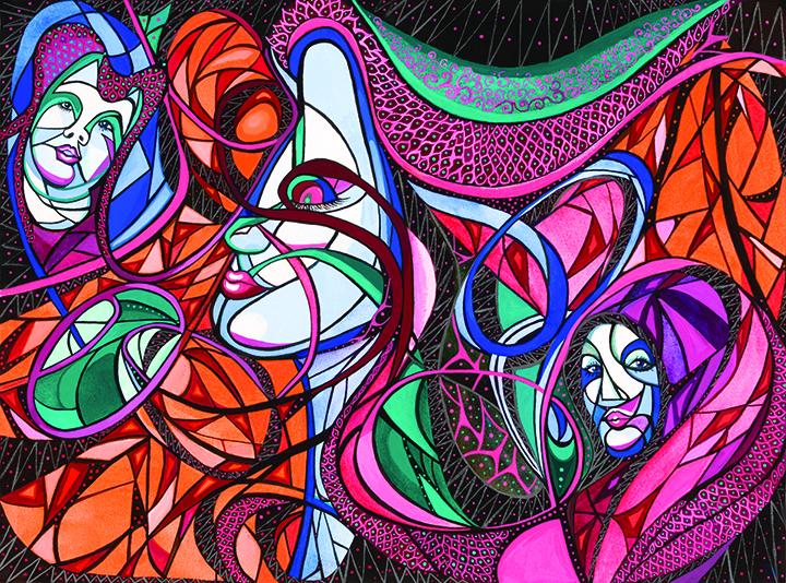 Artwork Of Melanie Feldman & Lew Jackson Currently Featured At SouthShore Regional Library
