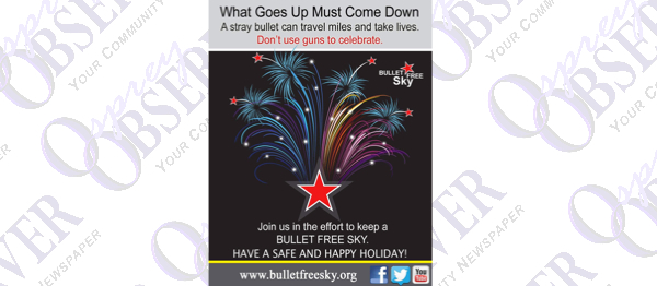Bullet Free Sky Urges Public to Celebrate Responsibly this Fourth of July