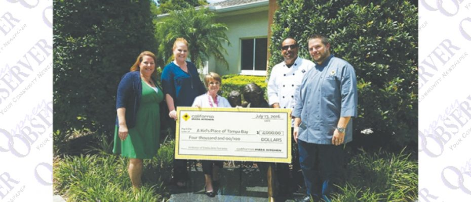 California Pizza Kitchen Honors Local Mom With Donation To A Kid's Place