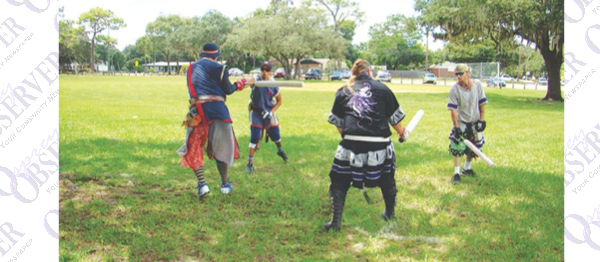 Role Playing Fantasy Group, Amtgard Barony Thrives at Local Park
