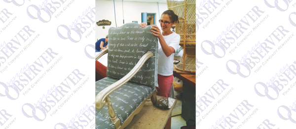 Kat Garand Gives Furniture  Fresh Look With Upholstery