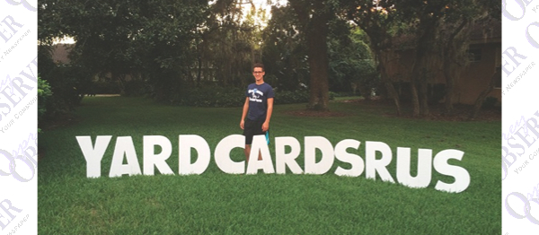 Student-Owned Yard Cards R Us Makes Life's Moments Extra Special