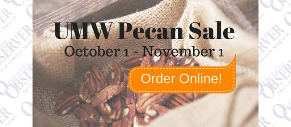 Pecan Sales, Craft Show, Health Fair & More…