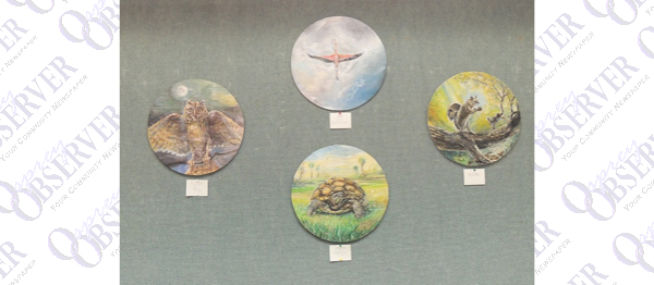 Jamie Hamblin's Artwork On Display At  Bruton Memorial Library