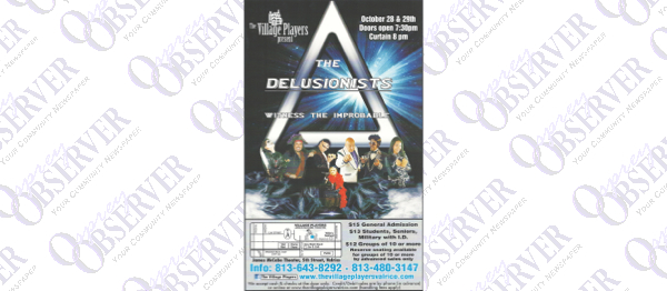 The Delusionists To Perform Two Shows At The James McCabe Theatre