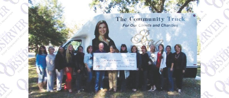 Brenda Wade Team Presents Kid's Place Donation