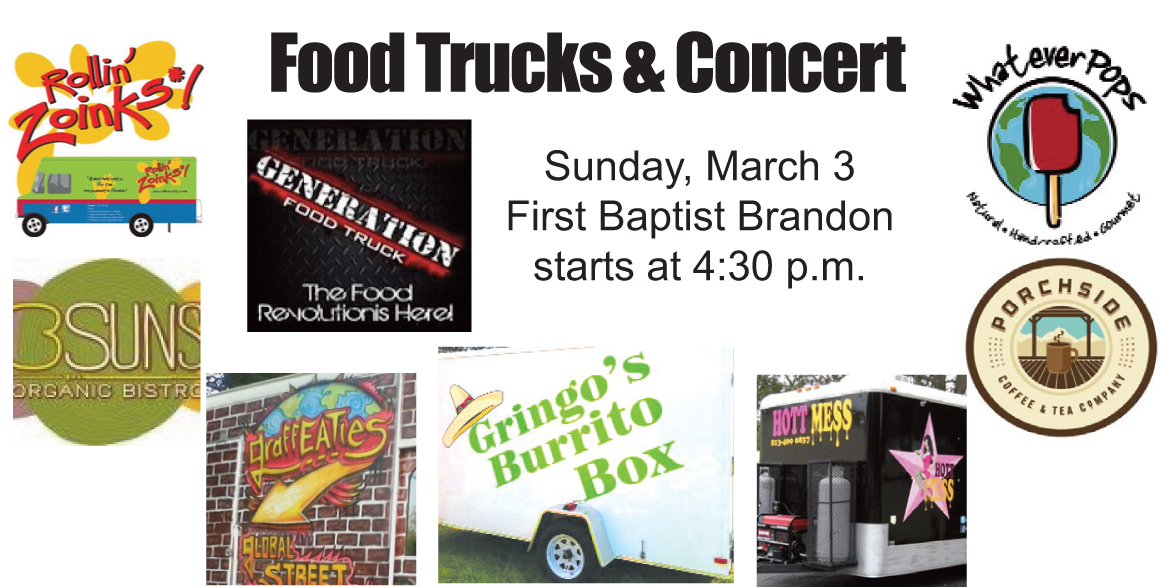 Food trucks music come to brandon sunday afternoon for Food truck layout